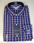NWT MEN'S TOMMY HILFLIGER PLAID LONG SLEEVE BUTTON UP DOWN SHIRT SZ 16.5 32-33