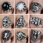 Men's Stainless Steel Fashion Gothic Punk Biker Finger Ring Vintage Jewelry Gift