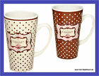 "Shabby Stil Kaffeebecher ""Chocolate"""
