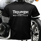 TRIUMPH MOTORCYCLE Logo Men's Black T Shirt S to 3XL $17.98 USD