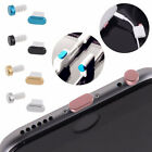 Metal Skin PC Earphone Jack & Charger Port Anti Dust Plug Caps for iPhone 6S 5S