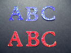"""100 x 1"""" die cut letters PURPLE or RED holographic card"""