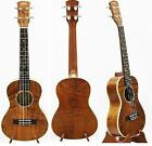 Alulu Tenor Ukulele, Solid curly Mahogany with natural wood grain, HU series