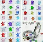 BUY 3 GET 1 FREE- Birthstone Charms For Floating Living Memory Glass Lockets