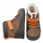Little Blue Lamb Brown Lace Leather Shoes Boots Toddler Boy 6 to 10 New in Box