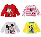 Cartoon Minnie Mickey Mouse Bambina Camicetta Top Maglietta Felpa Con Cappuccio