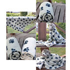 Внешний вид - Warm Paw Print Soft Pet Dog Cat Puppy Fleece Soft Blanket Mat Cover Cushion New