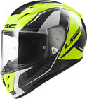 LS2 FF323 ARROW CARBON FURY FULL FACE MOTORCYCLE RACE SPEC HELMET FURY YELLOW