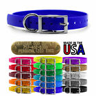 blue colored dog - Hunting Dog Name Collar Strap 3/4