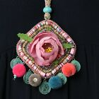 New Arrived Rainbow Flower Handmade Jewelry Pendants coin Bride for Dress Party