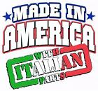 MADE IN AMERICA WITH ITALIAN PARTS White Kids Tee Shirt 2-4=XS To 14-16=LG