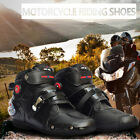 Mens Offroad Sport Motorcycle Waterproof MX GP Racing Leather Boots Moto Shoes