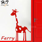 Giraffe Personalized Customized Name Wall Sticker Vinyl Decal Kids Room Nursery