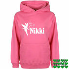 Personalised Tinkerbell Kids Hoodie girls top Jumper Ages 3 - 12