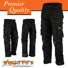 Mens Work Cargo Trouser Black Pro-11 Heavy Duty Multi Pockets