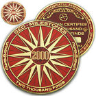 2000 Finds Geo-Milestones Geocoin And Pin Set - Award Your Geocaching Success