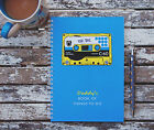 Retro Tape Cassette Personalised Notebook  Gift Idea Various Sizes