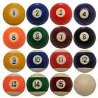 "POOL BALLS Spots and Stripes Size 2 1/2"" or 2 1/4"" Set of 16"
