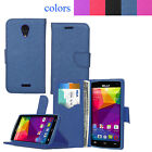 For BLU Studio X8 HD S530 Leather Wallet Stand Flip Slot Case + Screen Protector
