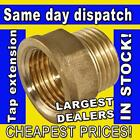 """1/2"""" OR 3/4"""" BSP THREAD 15MM OR 22MM BRASS MALE TO FEMALE TAP EXTENSION EXTENDER"""
