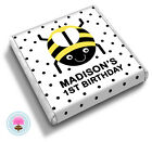 Personalised BUMBLE BEE Girl's Boy's 2nd 3rd Birthday Party Favour Chocolates