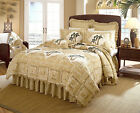 Donna Sharp Quilts West Indies Palm Tree Valance Table Runners Cream Sand Gold