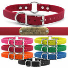"""Hunting Dog Name TUFF Collar Strap ID Tag D & O Ring 3/4"""" Wide & Brass ID Plate"""