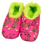 FUZZY FEET Warm - Soft - Comfy Women's Slippers Non Slip Don't Moose with Me