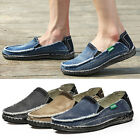 Fashion New Mens Casual Flats Slip On Loafers Jeans Driving Canvas Shoes