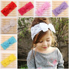 Girls Kids Baby Toddler Infant Lace Bow Headband Hair Band Accessories UK