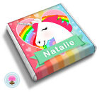 Personalised UNICORN Girl's 9th 10th 11th 12th Birthday Party Favour Chocolates