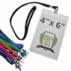 10 Pack- 4X6 Inch Extra Large Credential & Badge Holders with Lanyards ( 4 x 6 )
