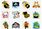 TEMPORARY PIRATE TATTOOS CHILDRENS GOODY PARTY LOOT BAGS KIDS PINNATA FILLERS