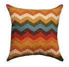 Chevron Throw Pillow, Panama Wave Adobe Pillow in Rust, Orange, Golden Yellow