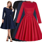 Ladies Womens 50's Retro Vintage Style Evening Party Cocktail Prom Swing Dress