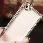 3D Bling Diamonds Crystal Ultra Thin Clear Soft Back TPU Gel Phone Case Cover #7