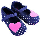 GAP Girls Shoes Polka Dot Ballerina Navy Blue Pink Heart Baby Slippers Accessory