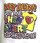 My Aunt Loves ME Light  Blue Tee Shirt  in Sizes 6 Months To 24 Months