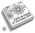 Personalised SPIRAL FLOWERS Wedding Celebration Party Favour Chocolates