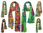 Floral Cotton Scarf Ethnic Handmade Scarves Hijab Neck Wraps Indian Bohemian