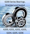 6200 Series (ZZ and 2RS) Popular Metric Ball Bearings, Select your size FREE P+P