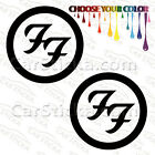 "2 of 5"" to 20"" Foo Fighters Logo /A rock artist car wall window stickers decals"