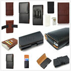 Luxury PU Leather Pocket Wallet Pouch Sleeve Case Belt Holster Clip For Phones