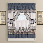 French Chateau Complete Cottage Kitchen Curtain Set by GoodGram - Assorted Sizes