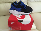 NIKE AIR HUARACHE BLACK BLUE WHITE SIZE UK 5.5 LIMITED EDITION NEW *LOOK*