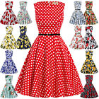 Women Vintage 50s 60s Retro Housewife Dress Evening Party Prom Wiggle Pinup Mini