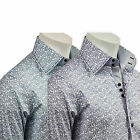 Men's Shirts Italian Design Slim Fit Paisley Office Casual Formal S-4XL