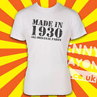 MADE IN 1930's / BORN IN T-SHIRT ALL PARTS ORIGINAL! THE THIRTIES - WHITE GILDAN