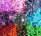 50 x Glass Crackle Beads ~ 6mm Round Beads ~ Jewellery Making Crafts