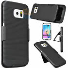 Belt Clip Holster W/Kickstand Hard Case Cover Skin for Samsung Galaxy Black